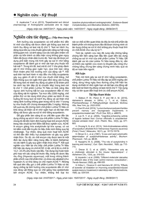 Kết quả nghiên cứu hiệu quả Lohha Trí Não đăng trên tạp chí Dược Học 4